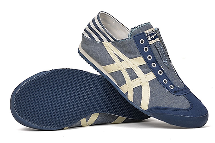 Onitsuka Tiger Mexico 66 Slip On (DK Blue/ Beige) Shoes