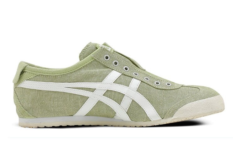 (LT Green/ White) Onitsuka Tiger Mexico 66 Slip On Shoes