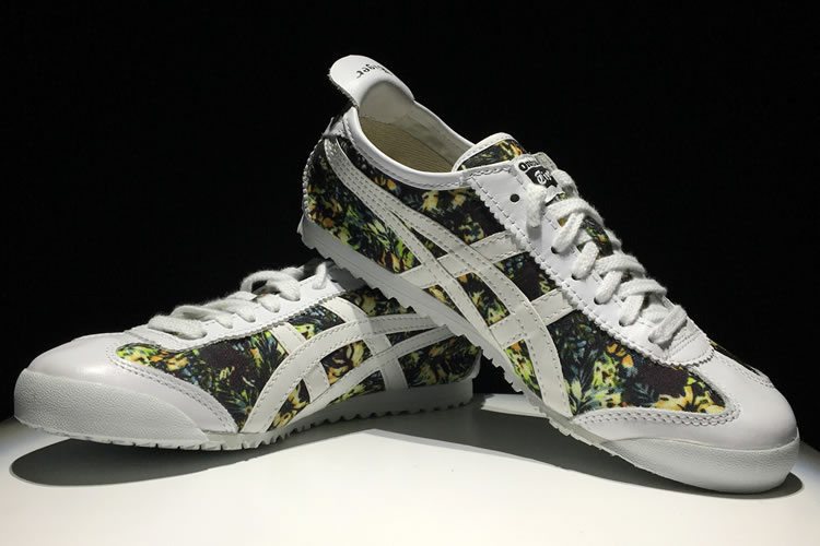 (White/ Camouflage) Onitsuka Tiger Mexico 66 Paraty Shoes - Click Image to Close
