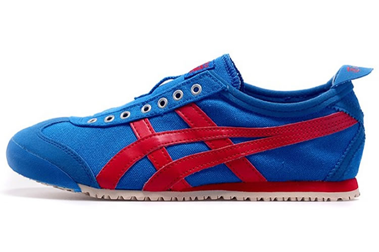 (Blue/ Red) Onitsuka Tiger Mexico 66 Slip On Shoes