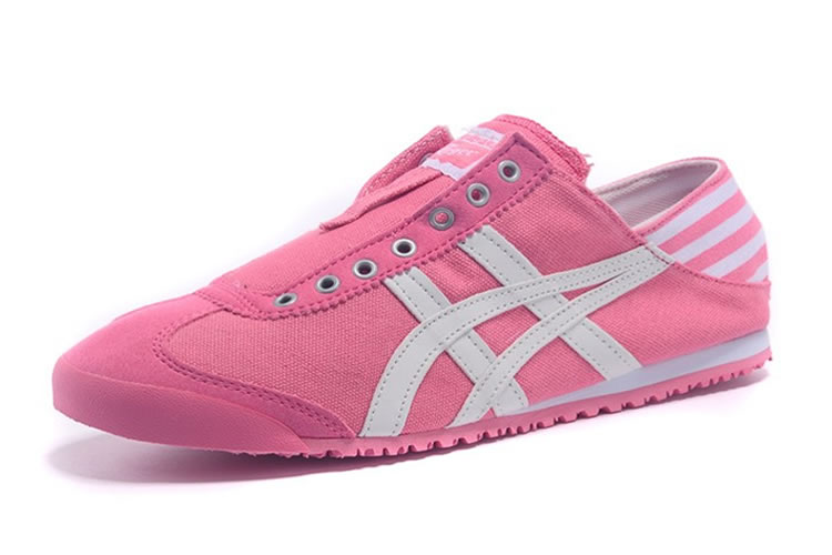 (Pink/ Beige) Onitsuka Tiger Mexico 66 Slip On Women Shoes