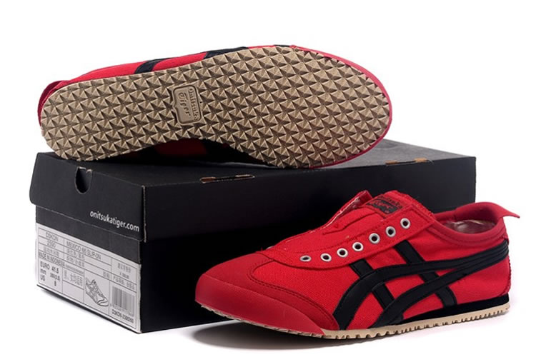 (Red/ Black) Onitsuka Tiger Mexico 66 Slip On Shoes