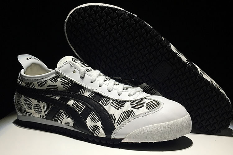 (White/ Black) Onitsuka Tiger Mexico 66 Paraty Shoes - Click Image to Close