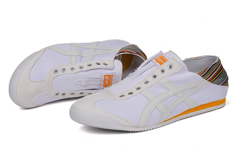 (White/ Orange) Onitsuka Tiger Mexico 66 Slip On Shoes