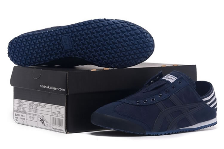 (DK Blue/ White) Onitsuka Tiger Mexico 66 Paraty Shoes