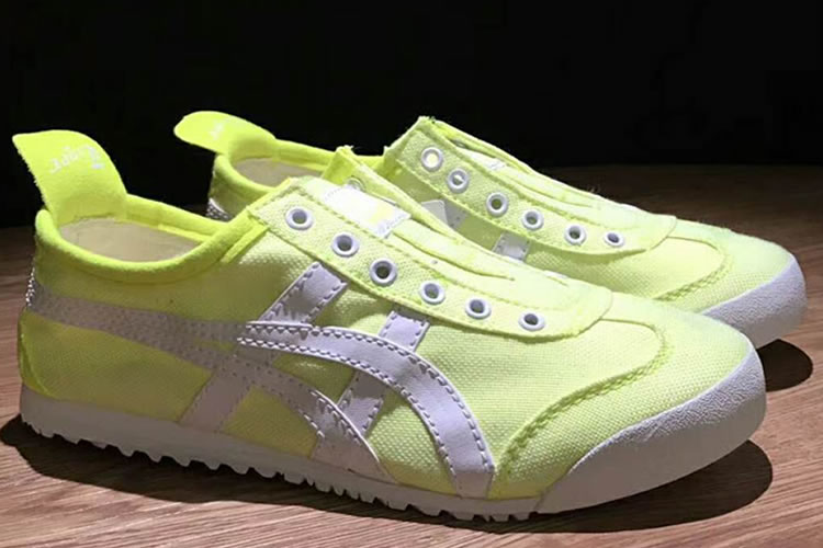 (Light Yellow/ White) Onitsuka Tiger Women Mexico 66 Paraty Shoes