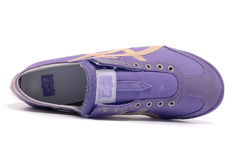 (Purple/ Beige) Onitsuka Tiger Mexico 66 Slip On Shoes