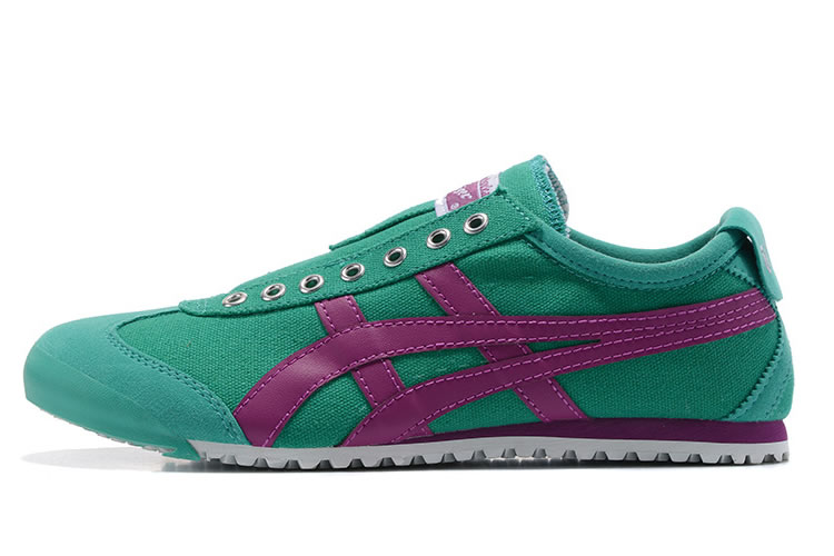 (Green/ Purple) Onitsuka Tiger Mexico 66 Slip On Shoes