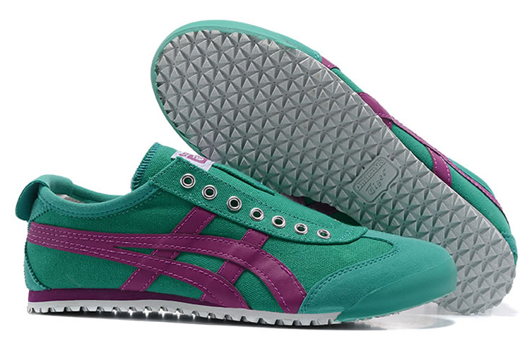 (Green/ Purple) Onitsuka Tiger Mexico 66 Slip On Shoes - Click Image to Close
