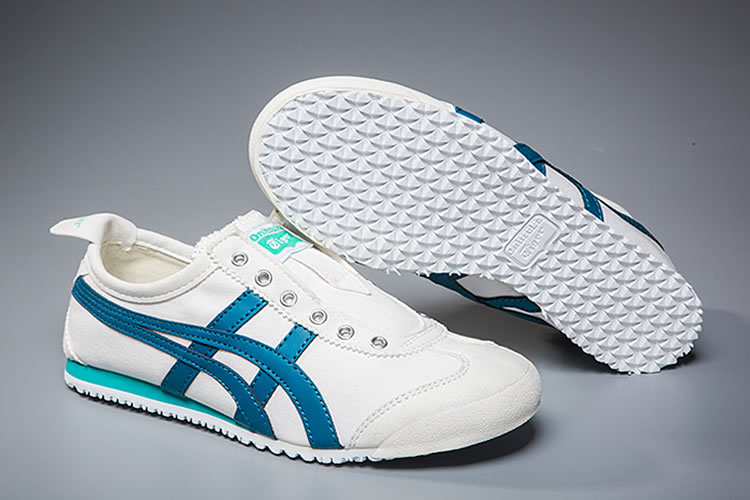 (White/ Sky) Onitsuka Tiger Mexico 66 Slip On Shoes