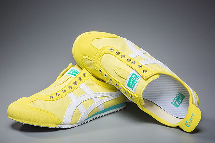 (Yellow/ White/ Green) Onitsuka Tiger Mexico 66 Slip On Shoes