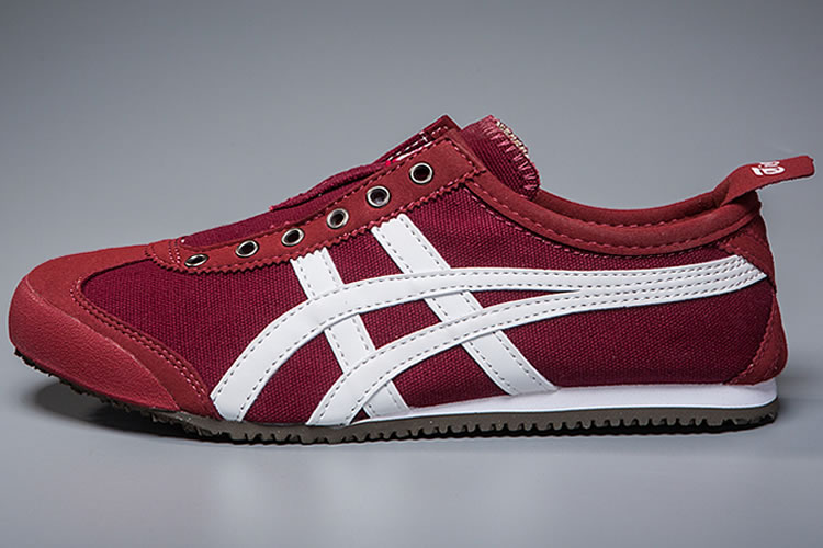 (Red/ White) Onitsuka Tiger Mexico 66 Slip On Shoes