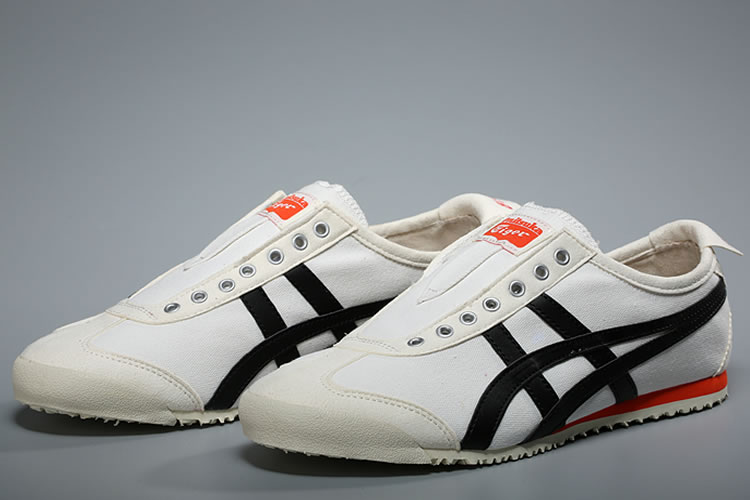 Onitsuka Tiger Slip On (Cream/ Black/ Orange) Shoes
