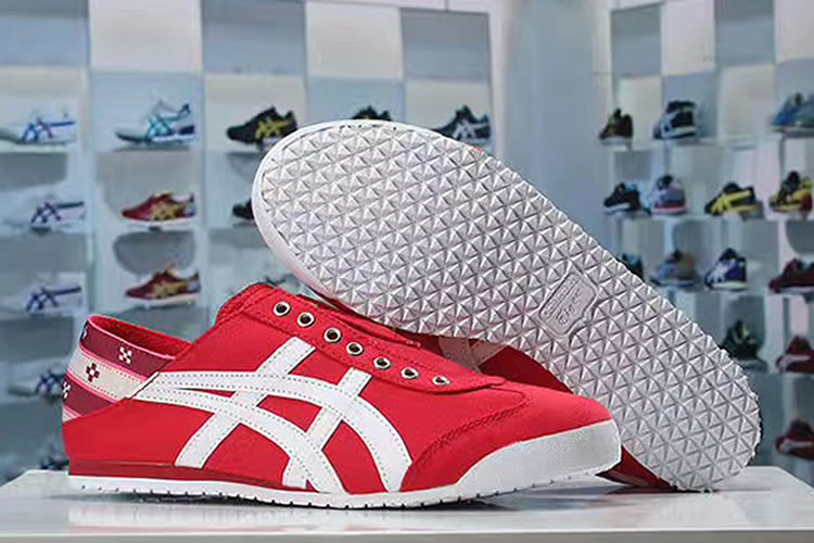 (Red/ White) Onitsuka Tiger Mexico 66 Slip On New Shoes
