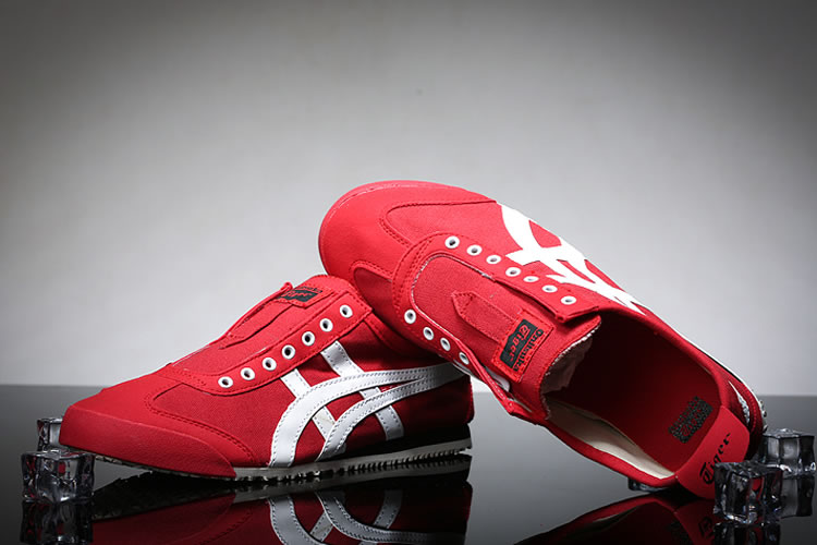 (Red/ White) Onitsuka Tiger Mexico 66 Slip On Shoes - Click Image to Close