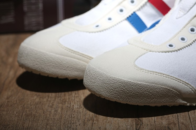 (White/ Blue/ Red) Onitsuka Tiger Mexico 66 Slip-On Shoes