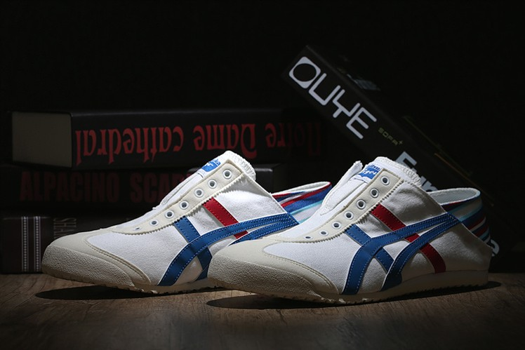 timeless design a0f2b afe0c White/ Blue/ Red) Onitsuka Tiger Mexico 66 Slip-On Shoes ...