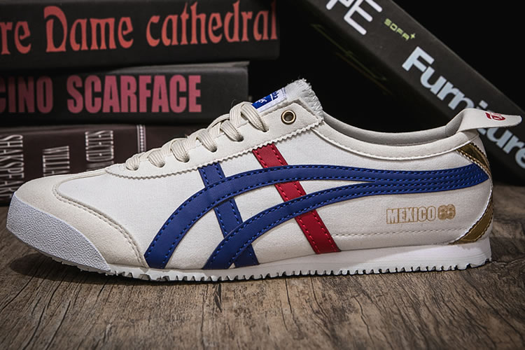 (White/ Blue/ Red/ Gold) Onitsuka Tiger Canvas Shoes