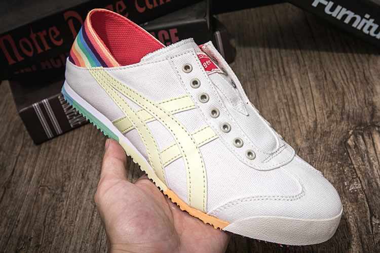 Onitsuka Tiger SLIP ON Rainbow Canvas Shoes