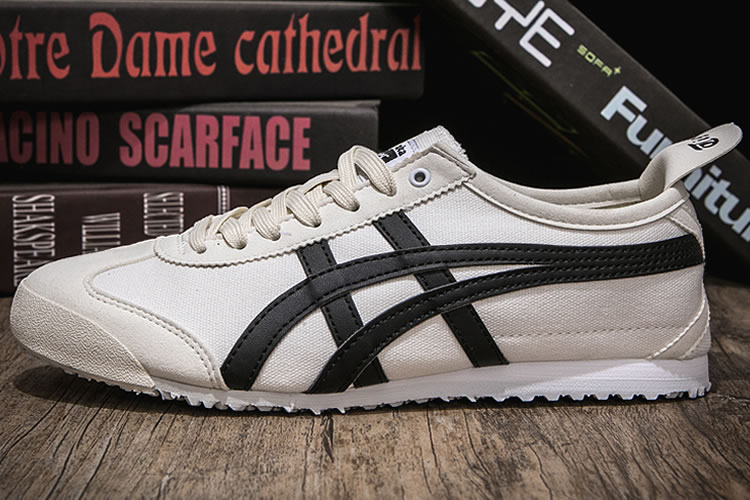(White/ Black) Onitsuka Tiger Canvas Shoes