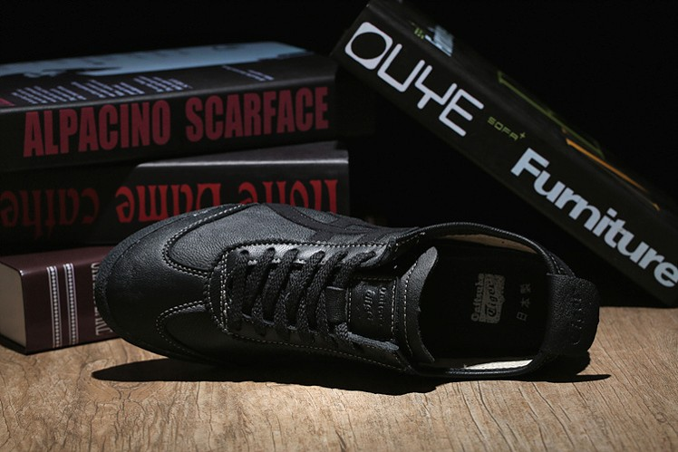 All Black Onitsuka Tiger Mexico 66 DELUXE Shoes - Click Image to Close