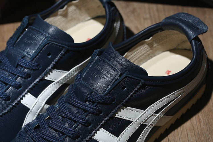 (Army Blue/ Beige) Onitsuka Tiger Mexico 66 DELUXE Shoes - Click Image to Close