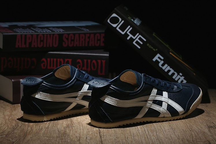 (Army Blue/ Beige) Onitsuka Tiger Mexico 66 DELUXE Shoes