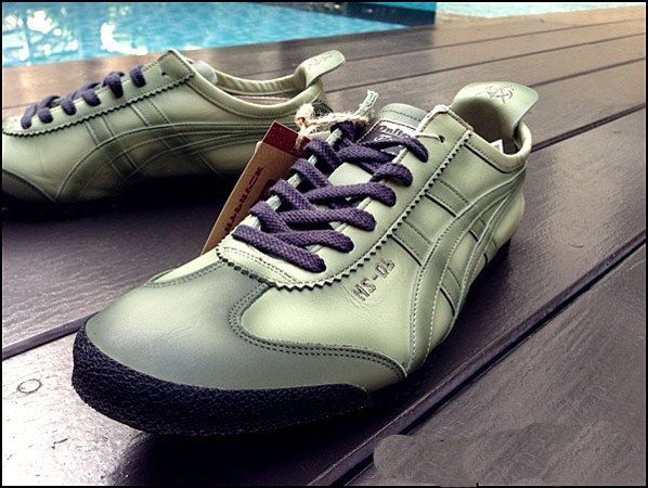 Army Green Onitsuka Tiger Deluxe Nippon Made Shoes