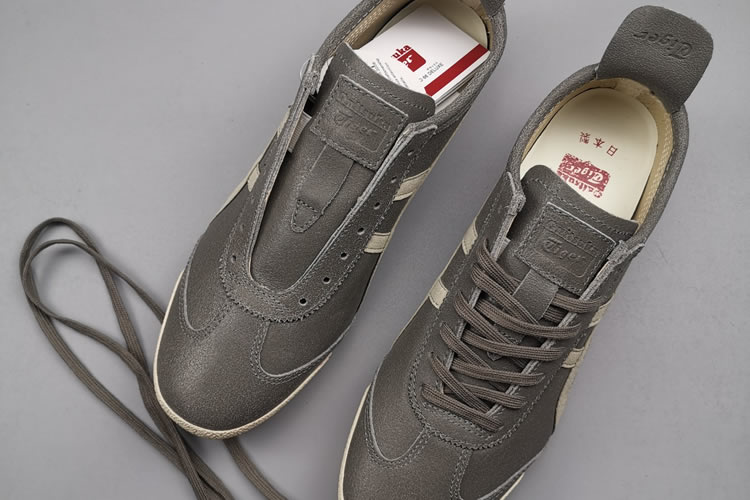 Onitsuka Tiger Deluxe THL504 SLIP ON Shoes (Grey/ Beige) - Click Image to Close