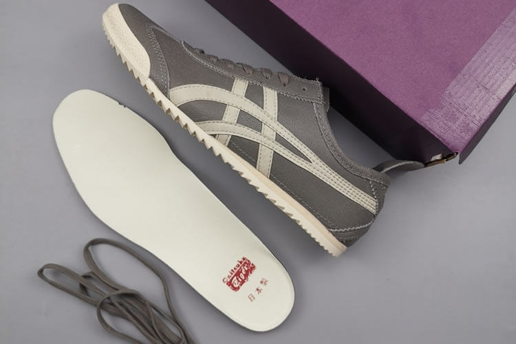 Onitsuka Tiger Deluxe THL504 SLIP ON Shoes (Grey/ Beige)