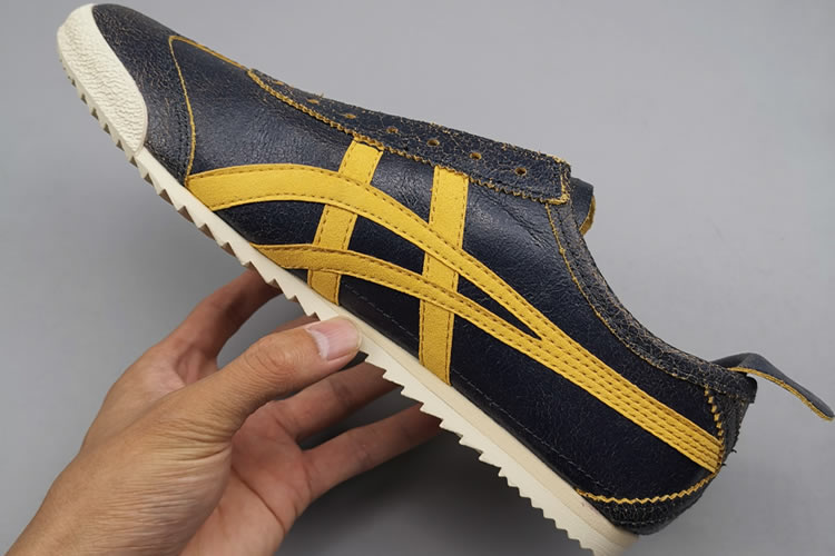 Onitsuka Tiger Deluxe THL504 SLIP ON Shoes (DK Blue/ Yellow)