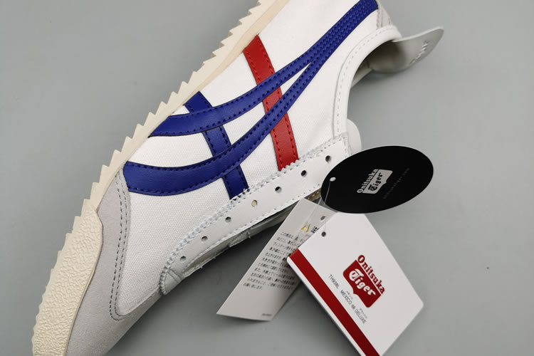 (White/ Blue/ Red) Onitsuka Tiger Mexico 66 Deluxe Shoes - Click Image to Close