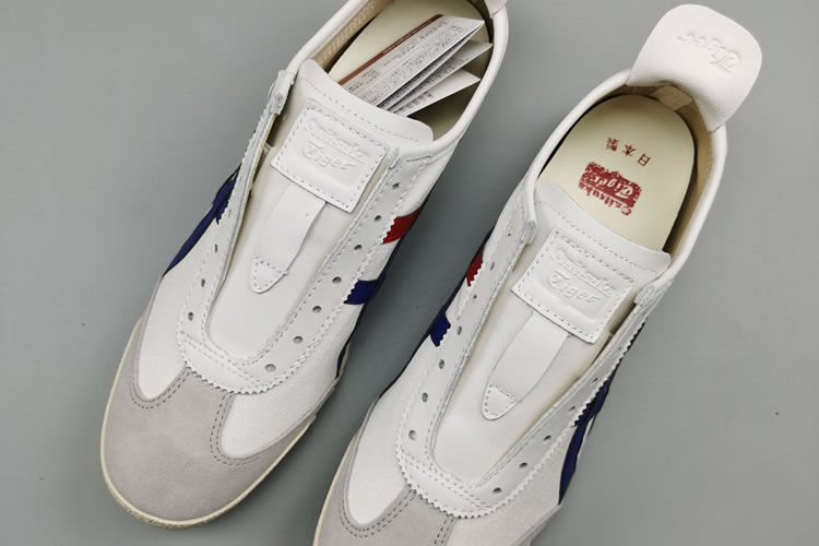 (White/ Blue/ Red) Onitsuka Tiger Mexico 66 Deluxe Shoes