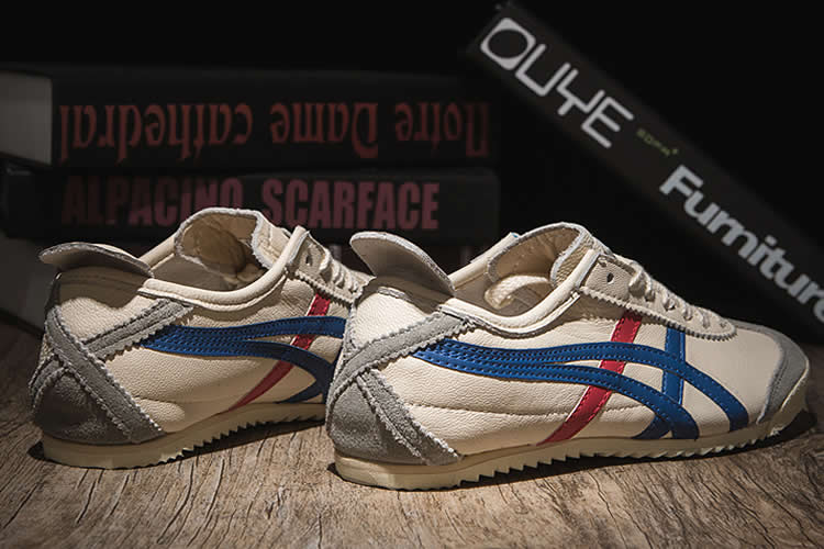 (Beige/ Blue/ Red) Onitsuka Tiger Deluxe Nippon Made Shoes