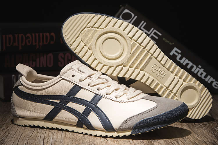 (Beige/ DK Blue) Onitsuka Tiger Mexico 66 Deluxe Nippon Made Shoes