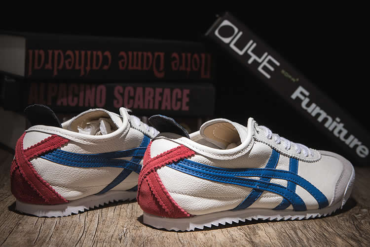 ASICS Onitsuka Tiger (White/ Blue/ Red) Nippon Made Shoes