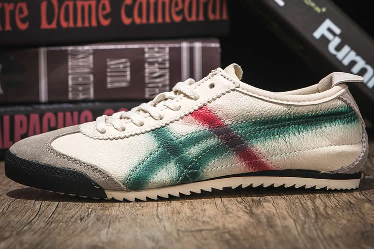 Onitsuka Tiger DELUXE (Beige/ Green/ Red) Women Shoes