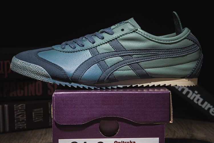 Onitsuka Tiger Mexico 66 NIPPON MADE Blue Shoes - Click Image to Close