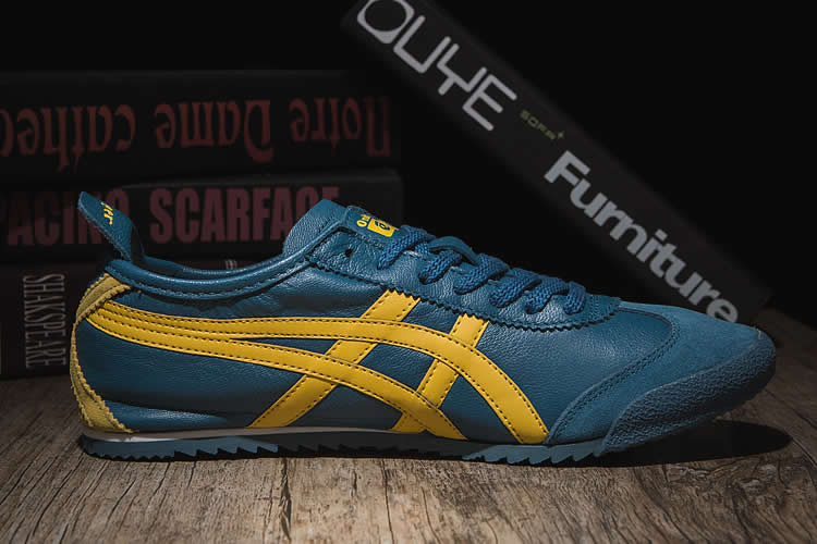 (Blue/ Yellow) Onitsuka Tiger Mexico 66 DELUXE Shoes