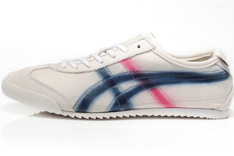 Onitsuka Tiger DX Beige Blue Red Running Shoes