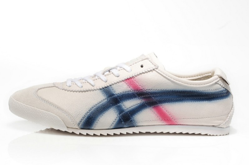 Onitsuka Tiger DX Beige Blue Red Women Shoes