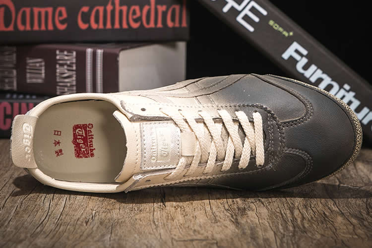 (Beige Silver Black) Onitsuka Tiger DX Running Shoes