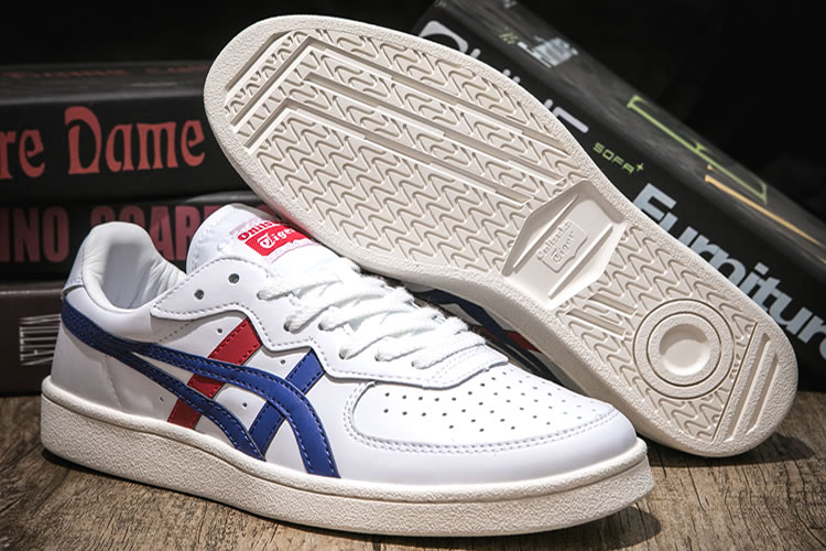 (White/ DK Blue/ Red) Onitsuka Tiger GSM Shoes