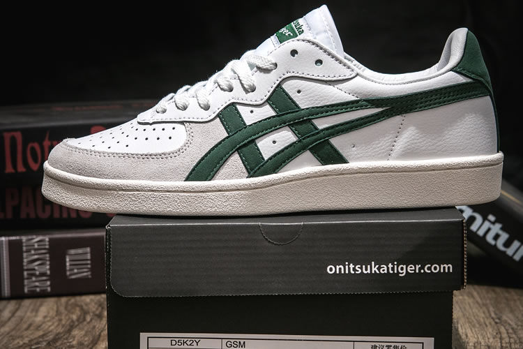 (White/ Grass Green) Onitsuka Tiger GSM Shoes