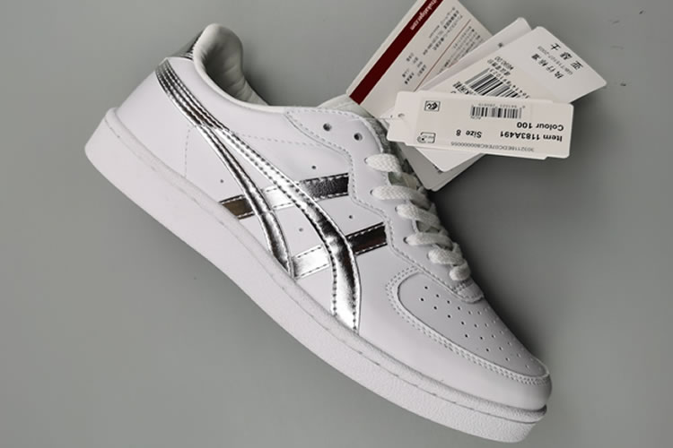 (White/ Silver) Onitsuka Tiger GSM Shoes - Click Image to Close