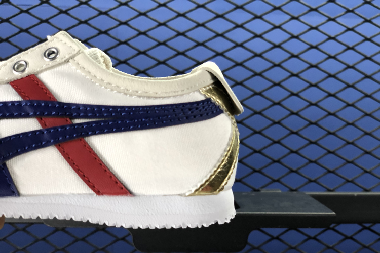 (White/ Blue/ Red/ Gold) Mexico 66 PS SLIP ON Big Kids Shoes