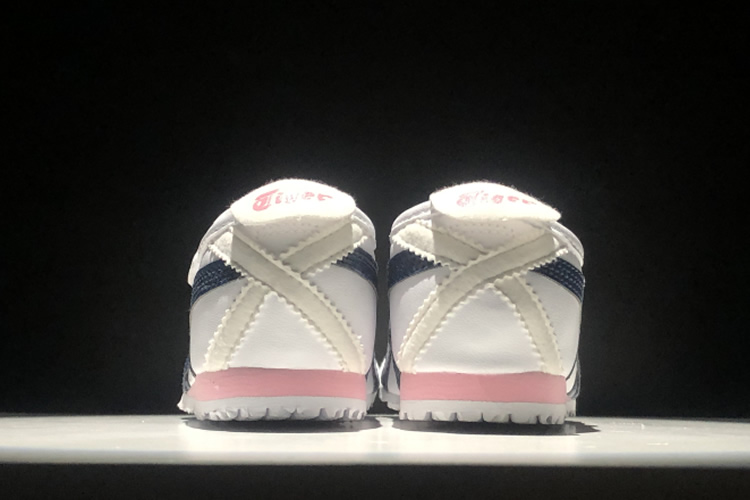 (White/ Black/ Pink) Mexico 66 PS Big Kid Shoes