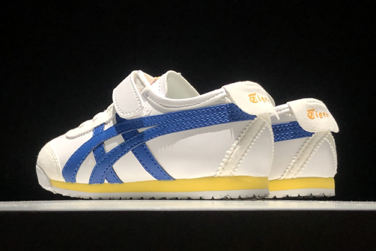 (White/ Classic Blue/ Yellow) Mexico 66 TS Little Kids Shoes