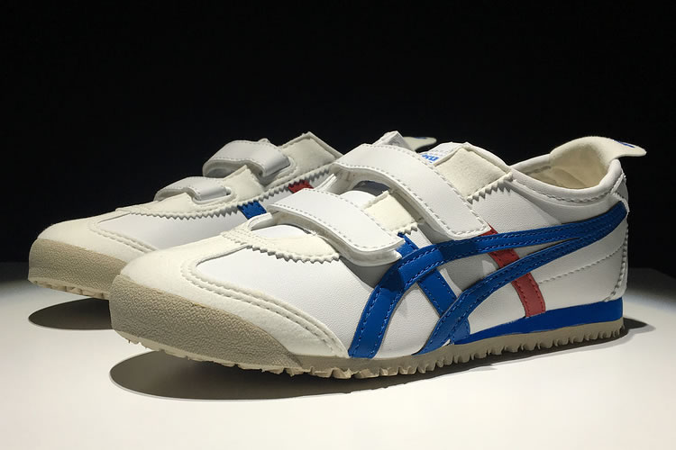 (White/ Blue/ Red) Onitsuka Tiger Mexico 66 BAJA TS Big Kid's Shoes