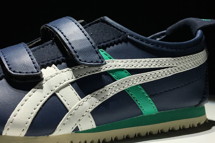 (DK Blue/ White/ Green) Onitsuka Tiger Mexico 66 BAJA TS Big Kid's Shoes